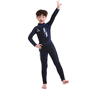 cheap Wetsuits, Diving Suits & Rash Guard Shirts-ZCCO Boys' Girls' Full Wetsuit 2.5mm SCR Neoprene Diving Suit Thermal / Warm High Elasticity Back Zip - Swimming Diving Snorkeling Plaid / Check Autumn / Fall Spring Summer / Kids