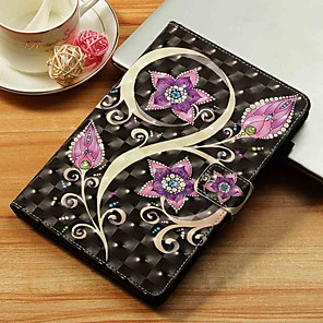 cheap iPad case-Case For Apple iPad Mini 5 / iPad New Air(2019) / iPad Mini 3/2/1 Wallet / Card Holder / with Stand Full Body Cases Flower Hard PU Leather