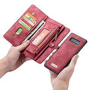 cheap Samsung Case-Case For Samsung Galaxy S9 / S9 Plus / S8 Plus Wallet / Card Holder / Shockproof Full Body Cases Solid Colored PU Leather / TPU