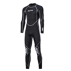 cheap Wetsuits, Diving Suits & Rash Guard Shirts-ZCCO Men's Full Wetsuit 3mm SCR Neoprene Diving Suit High Elasticity Long Sleeve Back Zip Fashion Autumn / Fall Spring Summer