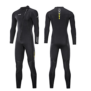 cheap Wetsuits, Diving Suits & Rash Guard Shirts-ZCCO Men's Full Wetsuit 3mm SCR Neoprene Diving Suit High Elasticity Long Sleeve Front Zip Patchwork Fashion Autumn / Fall Spring Summer
