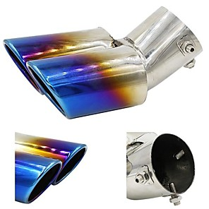 cheap Car Body Decoration & Protection-1 Piece 0.63 mm Car Exhaust Tailpipe Tips Bent Stainless steel Exhaust Mufflers For universal All Models All years