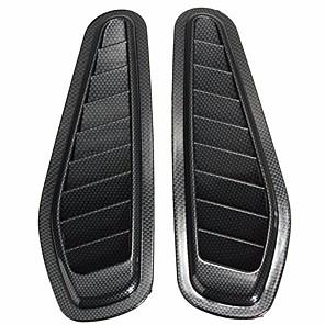 cheap Car Body Decoration & Protection-2Pcs Car Decorative Airflow Intake Scoop Turbo Bonnet Vent Cover Hood Fender