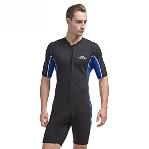 cheap Wetsuits, Diving Suits & Rash Guard Shirts-SBART Men's Shorty Wetsuit 2mm SCR Neoprene Diving Suit Thermal / Warm Short Sleeve Front Zip - Diving Water Sports Autumn / Fall Spring Summer / Winter / Micro-elastic