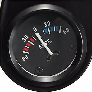 cheap Vehicle Tire Gauges-Car Black Pointer AMPS Meter Ammeter 60-0-60A White LED Light 2'' 52mm