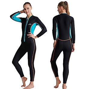 cheap Wetsuits, Diving Suits & Rash Guard Shirts-SBART Women's Full Wetsuit 3mm SCR Neoprene Diving Suit Thermal / Warm Long Sleeve Front Zip - Diving Water Sports Autumn / Fall Spring Summer / Winter / Micro-elastic