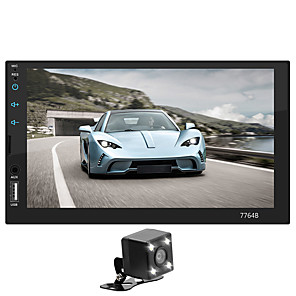 cheap Car DVD Players-SWM 7764+4LED camera 7 inch 2 DIN Car Multimedia Player / Car MP5 Player / Car MP4 Player Touch Screen / MP3 / Built-in Bluetooth for universal Support MPEG / MPG / WMV MP3 / WMA / FLAC JPEG / BMP