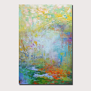 cheap Still Life Paintings-Oil Painting Hand Painted Abstract Landscape Comtemporary Modern Stretched Canvas With Stretched Frame