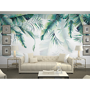 cheap Wallpaper-Wallpaper / Mural Canvas Wall Covering - Adhesive required Art Deco / Trees / Leaves / 3D