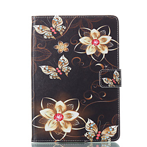 cheap iPad case-Case For Apple iPad Mini 5 / iPad New Air(2019) / iPad Mini 3/2/1 Wallet / Card Holder / with Stand Full Body Cases Butterfly / Flower Hard PU Leather