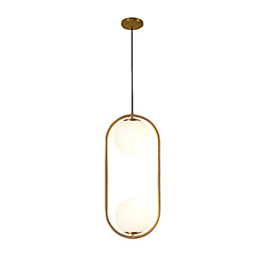 cheap Island Lights-2-Light 20 cm New Design Pendant Light Metal Glass Circle Electroplated Contemporary / Artistic 110-120V / AC110-240V