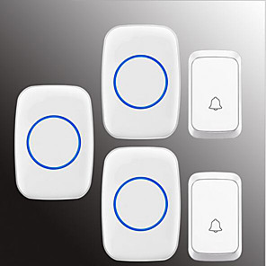 cheap Doorbell Systems-Wireless Two to Three Doorbell Music / Ding dong Non-visual doorbell Surface Mounted