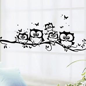 cheap Wall Stickers-Animals Wall Stickers Plane Wall Stickers Decorative Wall Stickers, PVC Home Decoration Wall Decal Wall Decoration 1 set
