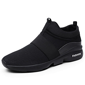 cheap Outdoor IP Network Cameras-Men's Comfort Shoes Spring / Summer Sporty / Casual Athletic Daily Outdoor Trainers / Athletic Shoes Running Shoes Tissage Volant Breathable Non-slipping Wear Proof Red / White / Black Slogan