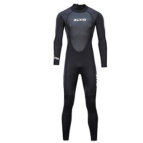 cheap Wetsuits, Diving Suits & Rash Guard Shirts-ZCCO Women's Full Wetsuit 3mm SCR Neoprene Diving Suit High Elasticity Front Zip Stars Fashion Autumn / Fall Spring Summer / Winter