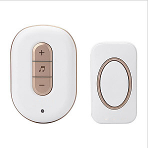 cheap Video Door Phone Systems-Wireless One to One Doorbell Music / Ding dong Non-visual doorbell Surface Mounted