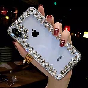 cheap iPhone Cases-Case For Apple iPhone XS / iPhone XR / iPhone XS Max Rhinestone / Transparent / DIY Back Cover Rhinestone Soft TPU