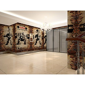 cheap Wall Stickers-Wallpaper / Mural Canvas Wall Covering - Adhesive required Art Deco / Pattern