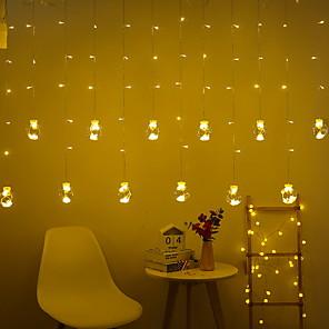 cheap LED String Lights-2.5m String Lights 108 LEDs 5630 SMD 1 set Warm White Decorative 220-240 V