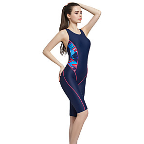 cheap Athletic Swimwear-BANFEI Women's One Piece Swimsuit Ultra Light (UL) Quick Dry Polyester Chinlon Sleeveless Swimwear Beach Wear Bodysuit Patchwork Swimming Surfing Water Sports / High Elasticity
