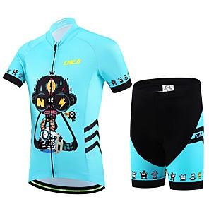 cheap Cycling Jersey & Shorts / Pants Sets-cheji® Boys' Girls' Short Sleeve Cycling Jersey with Shorts - Kid's Red Blue Cartoon Bike Clothing Suit Breathable Sports Lycra Cartoon Mountain Bike MTB Road Bike Cycling Clothing Apparel