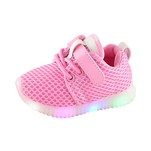 cheap Women's Boots-Boys' / Girls' LED / Comfort / LED Shoes Mesh Sneakers Toddler(9m-4ys) / Little Kids(4-7ys) Luminous White / Black / Pink Spring &  Fall / Rubber