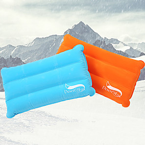 cheap Sleeping Bags & Camp Bedding-DesertFox® Camping Travel Pillow Camping Pillow Outdoor Camping Inflatable Anti-Slip Ultra Light (UL) Stretchy Plush Fabric for Camping / Hiking / Caving Traveling All Seasons Orange Blue