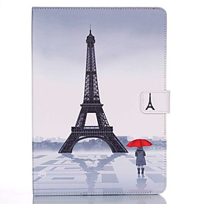 cheap iPad case-Case For Apple iPad Mini 5 / iPad New Air(2019) / iPad Mini 3/2/1 Wallet / Card Holder / with Stand Full Body Cases Eiffel Tower Hard PU Leather