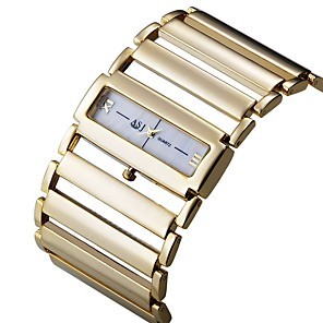 cheap Bracelet Watches-ASJ Women's Dress Watch Square Watch Japanese Quartz Luxury Casual Watch Silver / Gold Analog - Gold Silver One Year Battery Life / SSUO SR626SW+CR2025