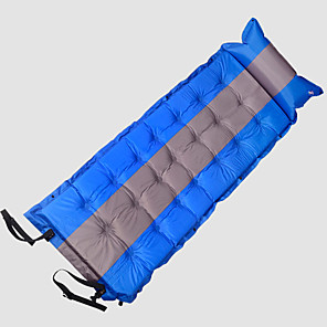 cheap Sleeping Bags & Camp Bedding-WOLF WALKER® Air Pad Make It Double Outdoor Camping Waterproof Lightweight Moistureproof Cotton / Linen Blend Beach Camping / Hiking / Caving Picnic for 1 person All Seasons Black Red Blue