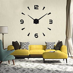cheap Wall Clocks-Modern Contemporary / DIY Stainless steel Round Garden Theme / Classic Theme Indoor AA Batteries Powered Decoration Wall Clock Digital Stainless Steel No