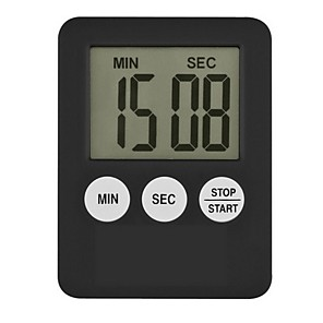 cheap Measuring Tools-Super Thin LCD Digital Screen Kitchen Timer Square Cooking Count Up Countdown Alarm Magnet Clock Temporizador