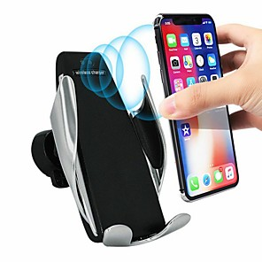 cheap Wireless Chargers-Qi Wireless Charger Bracket Smart Automatic Induction Stand Car Air Vent Phone Holder For iPhone XS XR X Max Samsung S10 S9 S8 Plus