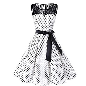 cheap Women's Sandals-A-Line Elegant Vintage Cocktail Party Homecoming Dress V Neck Sleeveless Knee Length Spandex with Pattern / Print 2020