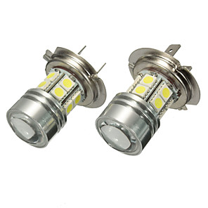 cheap Car Headlights-Pair 12V H7 499 6000K SMD LED Daytime Light Projector Headlight Fog Bulbs White