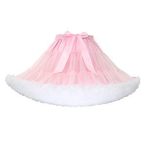 cheap Historical & Vintage Costumes-Petticoat Hoop Skirt Tutu Under Skirt 1950s Green Blue Pink Petticoat / Crinoline