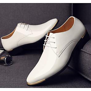cheap Men's Oxfords-Men's Comfort Shoes PU Spring &  Fall Oxfords Black / White / Blue