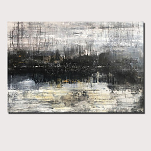 cheap Abstract Paintings-Oil Painting Hand Painted - Abstract Landscape Comtemporary Modern Rolled Canvas