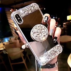 cheap iPhone Cases-Case For Apple iPhone 11 / iPhone 11 Pro / iPhone 11 Pro Max Shockproof / with Stand Back Cover Rhinestone Hard Acrylic