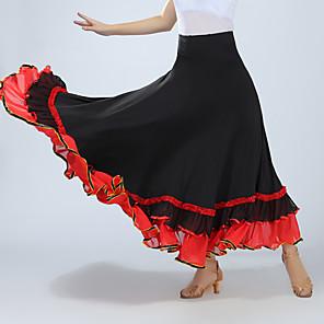tanie Stroje balowe-Taniec balowy Spódnice Marszcząca się Damskie Szkolenie Spektakl Wysoki Spandeks