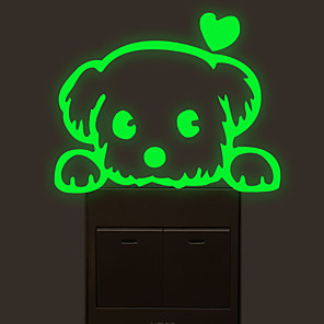 cheap Wall Stickers-Light Switch Stickers - Luminous Wall Stickers / Animal Wall Stickers Animals Living Room / Bedroom / Bathroom