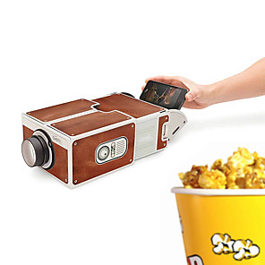 cheap Novelty Gadgets-DIY 3D Projector Cardboard Mini Smartphone Projector Light Novelty Adjustable Mobile Phone Projector Portable Cinema In A Box