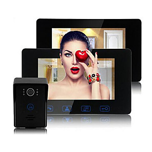 cheap Video Door Phone Systems-Factory OEM Wired Built in out Speaker 7 inch Hands-free 800*480 Pixel One to Two video doorphone