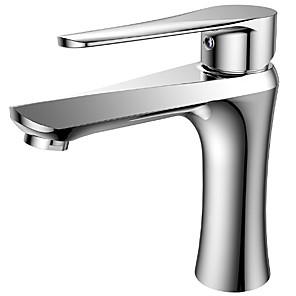 povoljno Slavine za umivaonik-Kupaonica Sudoper pipa - Suvremena Chrome Keramičke ventila Bath Shower Mixer Taps