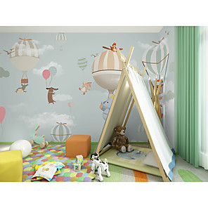 cheap Wallpaper-Wallpaper / Mural Canvas Wall Covering - Adhesive required Painting / Art Deco / Pattern