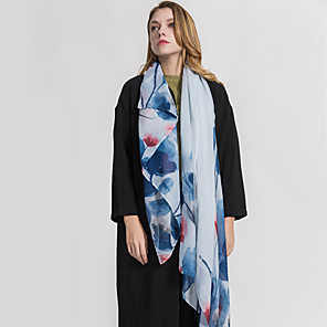 cheap Wedding Wraps-Sleeveless Shawls / Scarves Voile Wedding / Party / Evening Women's Wrap / Women's Scarves With Printing / Floral