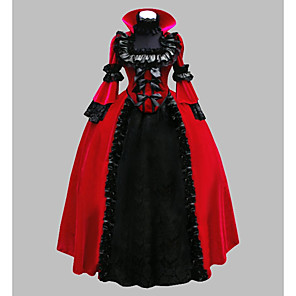 cheap Historical & Vintage Costumes-Little Red Riding Hood Dress Cosplay Costume Masquerade Women's Victorian Renaissance 18th Century Christmas Halloween Carnival Festival / Holiday Satin Red Carnival Costumes Plus Size Customized