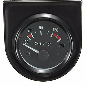 "cheap Car Rear View Camera-Universal 2"" 52mm LED Light Car Black Pointer Oil Temperature Temp Gauge 50-150 Degree Hgh Oil Temperature Alarm"