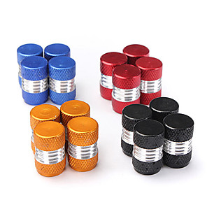 cheap Car Body Decoration & Protection-4PCS Aluminum Alloy Car Wheel Tire Valve Stem Caps Dust Covers