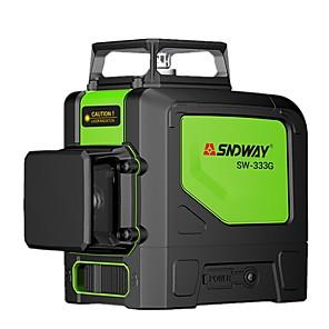 cheap Level Measuring Instruments-SW333G laser level  3D 12 Lines 360 Green laser Beam Self-Leveling level Laser Horizontal Vertical line leveler